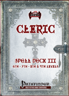 Cleric Spell Card Deck III (6th - 9th)