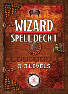 Wizard Spell Deck I, 0th-3rd (5E)