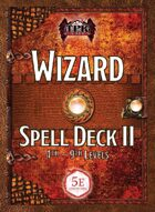 Wizard Spell Card Deck II, 4th-9th (5E)
