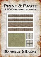 Print & Paste Dungeon textures: Barrels & Sacks