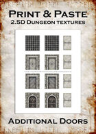 Print & Paste Dungeon textures: Additional Doors