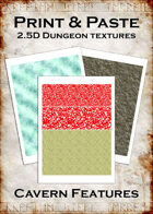 Print & Paste Dungeon textures: Cavern Features