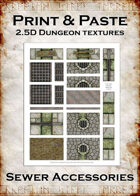 Print & Paste Dungeon textures: Sewer Accessories