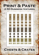 Print & Paste Dungeon textures: Chests & Crates
