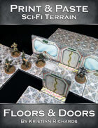 Print & Paste Sci-Fi Terrain : Floors & Doors