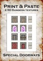 Print & Paste Dungeon textures: Special Doorways