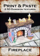 Print & Paste Dungeon textures: Fireplace