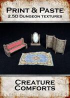Print & Paste Dungeon Textures: Creature Comforts