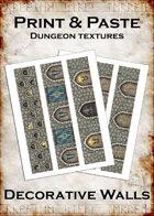 Print & Paste Dungeon textures: Decorative Walls