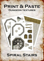 Print & Paste Dungeon Textures: Spiral Stairs