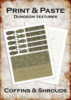 Print & Paste Dungeon Textures: Coffins & Shrouds