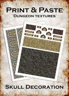 Print & Paste Dungeon Textures: Skull Decoration