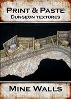 Print & Paste Dungeon textures: Mine Walls