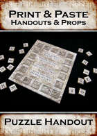 Print & Paste Handouts and Props : Puzzle Handout