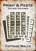 Print & Paste Village textures: Cottage Walls