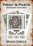Print & Paste Dungeon Textures: Magic Circle