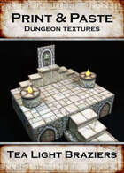 Print & Paste Dungeon Textures: Tealight Braziers