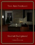 Tree and Fireplace : Stockart Background