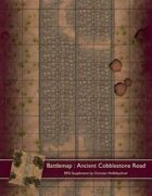 Battlemap : Ancient Cobblestone Road