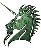 Clipart Critters 347 - jade unicorn
