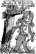Clipart Critters 461 - Creepy Doll
