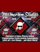Postmortem Studios 2018 Product Catalog