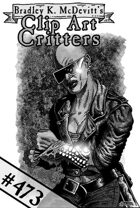 Clipart Critters 473 - Cyber Samurai