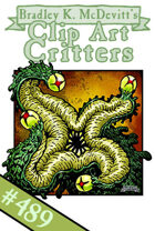 Clipart Critters 489 - Elder Thing 2