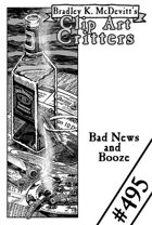 Clipart Critters 495 - Bad News and Booze