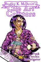 Clipart Critters 498 - Punk Psychic Investigator