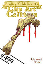 Clipart Critters 499 - Gnawed Bone