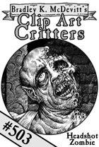 Clipart Critters 503 - Headshot Zombie