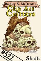 Clipart Critters 522 - Skulls