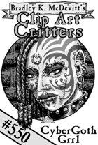 Clipart Critters 550-Cybergoth Grrl