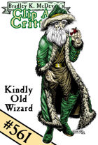 Clipart Critters 561- Kindly Wizard