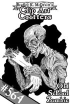 Clipart Critters 564-Old School Zombie