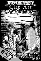 Clipart Critters 572-Haunted Mine