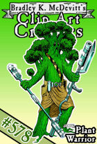 Clipart Critters 578- Plant Warrior