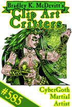 Clipart Critters 585 - Cybergoth Martial Artist