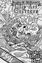 Clipart Critters 591 - Broken Doll's Head