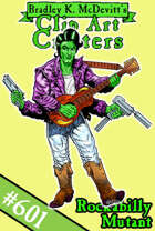 Clipart Critters 601-Rockabilly Mutant