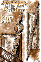 Clipart Critters 602-Magic Staff