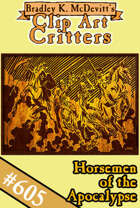 Clipart Critters 605 - Horsemen Oft The Apocalypse