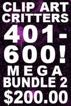 Clipart Critters Mega Bundle #2 (CAC #401-600) [BUNDLE]