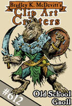 Clipart Critters 612-Old School Gnoll