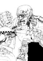 Stock Art: Cyberpunk Influencer, Police Ticket and Nurse