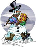 Clipart Critters 215 - Mr Frigid the Free Frozen Holiday Golem