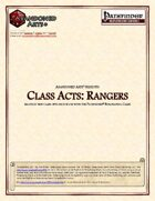 Class Acts: Rangers