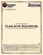 Class Acts: Inquisitors