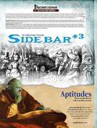 Sidebar #3 - Aptitudes